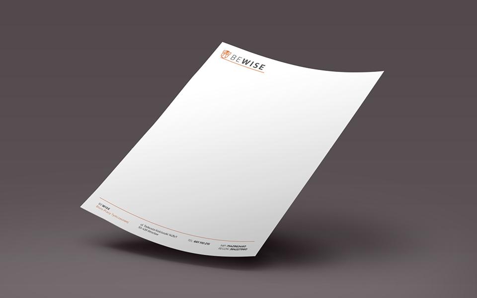 projekt papieru firmowego dla agencji pracy