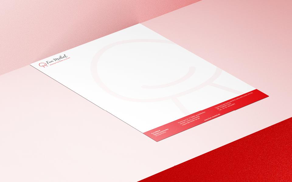 projekt papieru firmowego sklepu z meblami