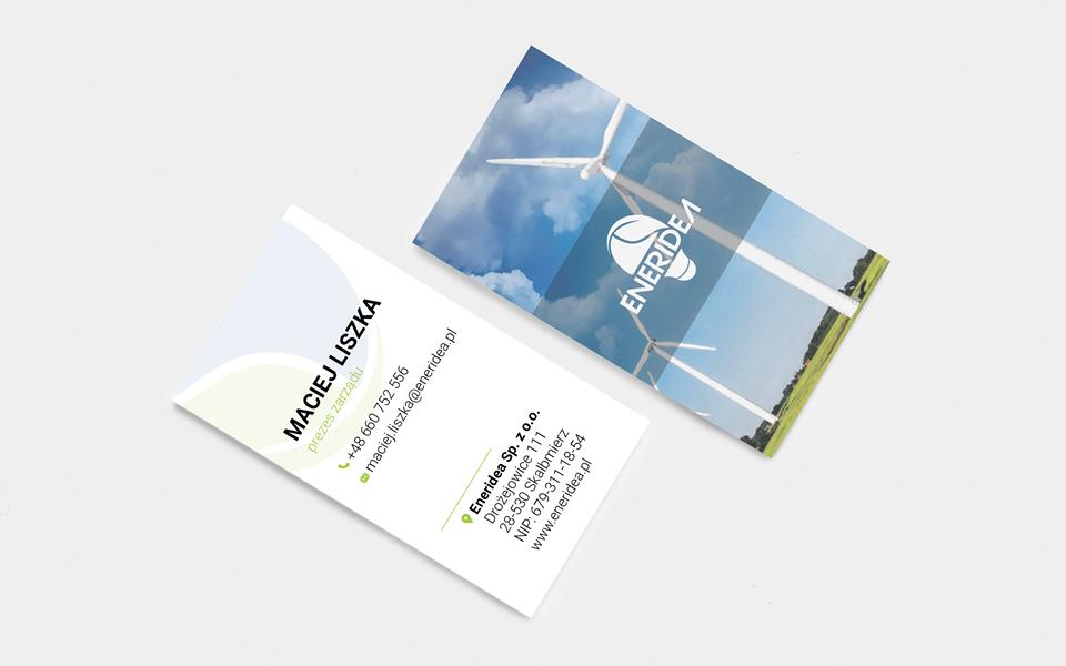 projekt wizytówki odnawialne energie
