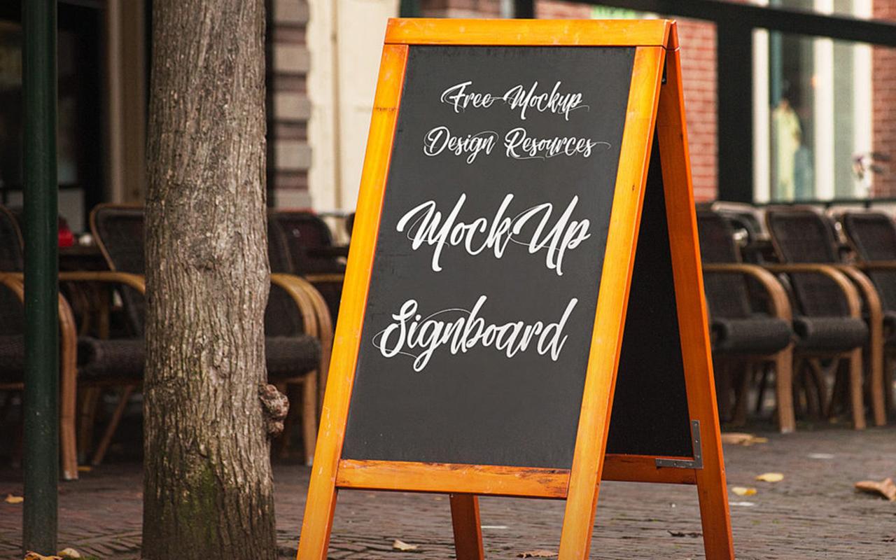 Drewniany potykacz reklamowy