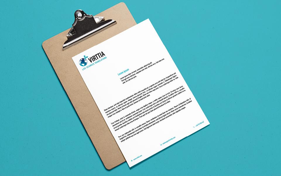 projekt papieru firmowego biuro tlumaczen