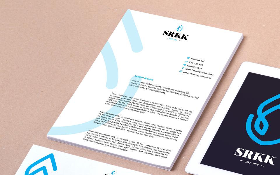 projekt papieru firmowego firma sprzatajaca
