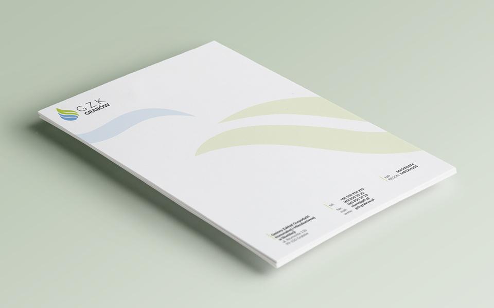 projekt papieru firmowego gzk grabow