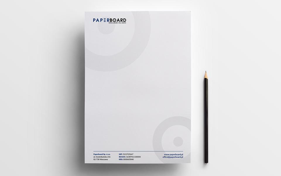 projekt papieru firmowego paper board