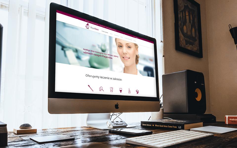 projekt strony www dentysta-royaldent pl