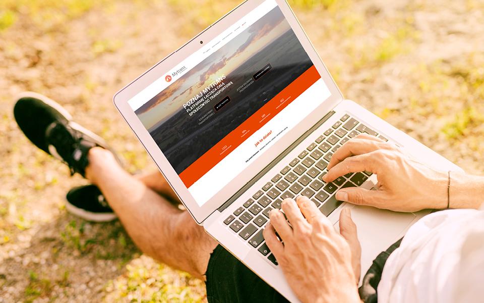 projekt strony www mytrans eu