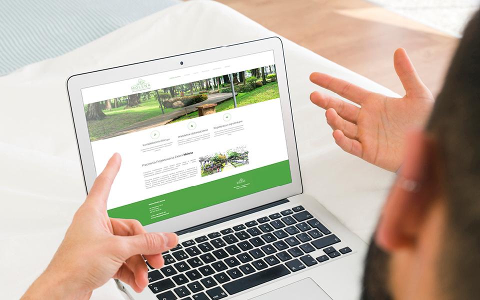 projekt strony www ogrodymolena pl