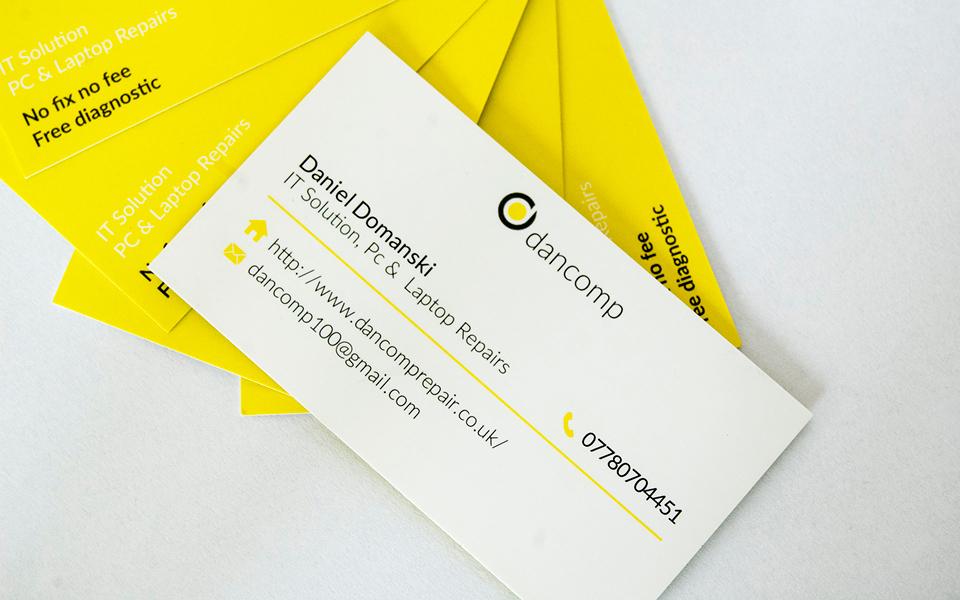projekt wizytowki dancomp