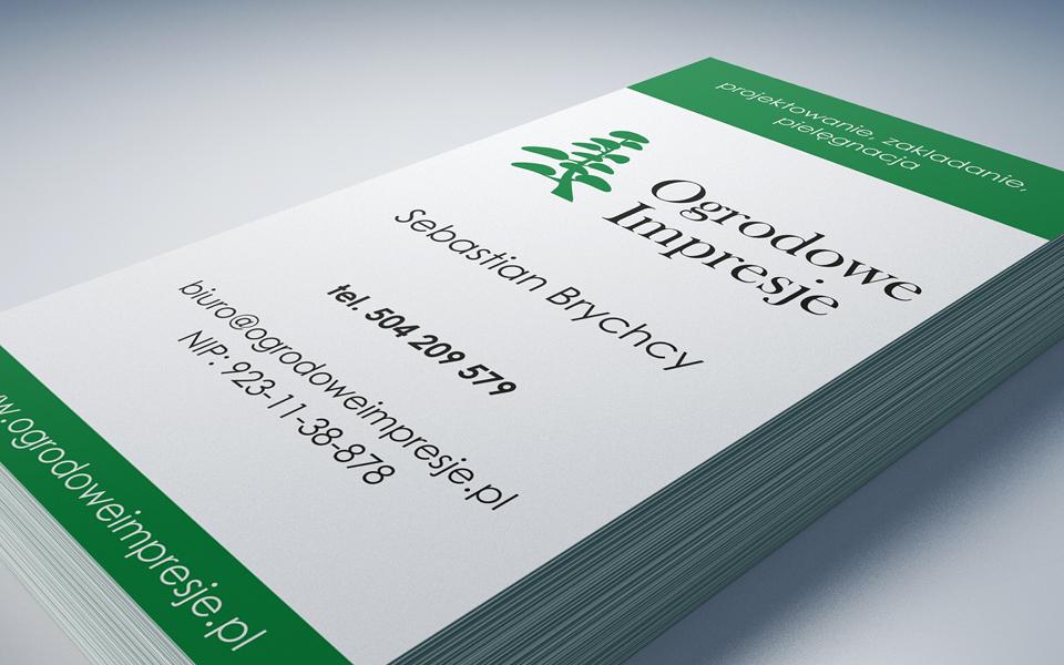 projekt wizytowki usługi ogrodnicze
